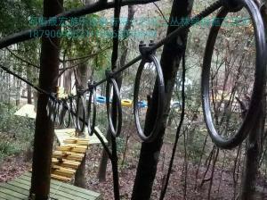 浙江浙旅楠溪江投资管理有限公司合作的桃花源景区交付使用的丛林穿越
